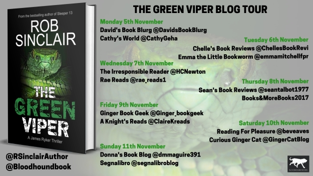 The Green Viper Blog Tour banner